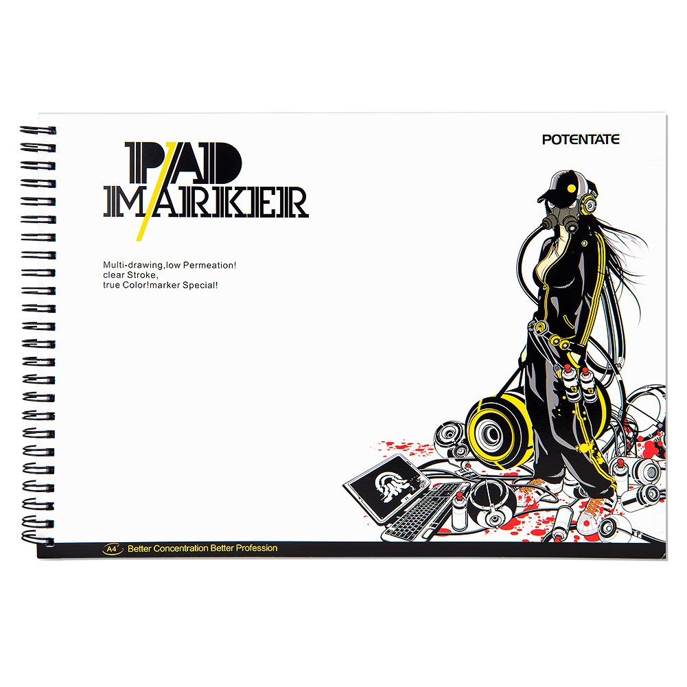Finecolour 12 36 48 72アートColored pernementスケッチマーカー Marker Pad 020905 B06XZQ8Q3Z オフホワイト