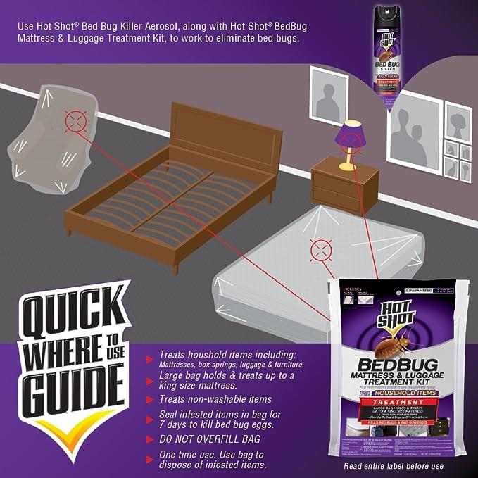 Amazoncom Hot Shot Bedbug Mattress Luggage Treatment Kit 1
