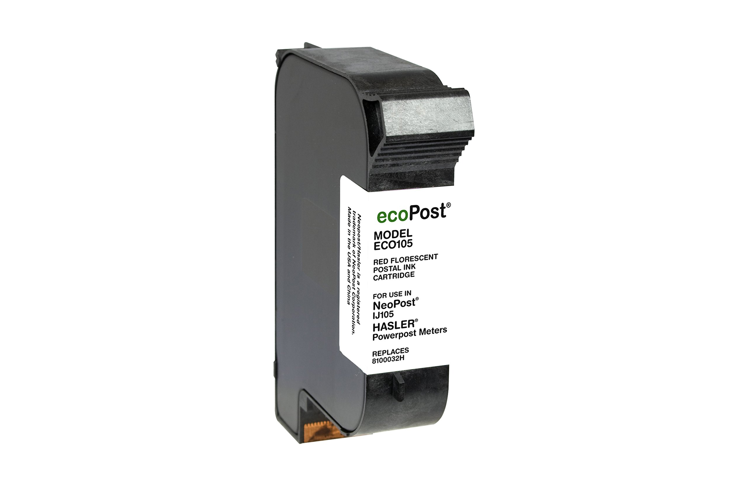 Ecopost ECO105 Eco Post Power Postage Meter Inkjet Cartridge Compatible Neopost IJ105 8100032H (PPINKR & C6120A) 2 Pack Fluorescent Red Ink