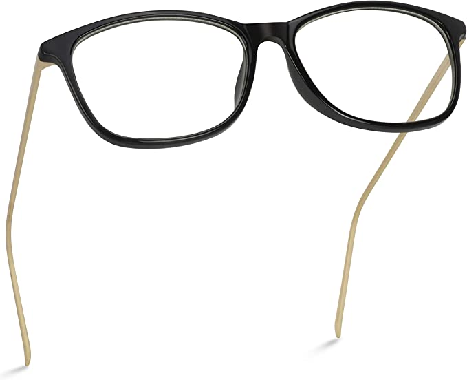 Horn Rim Glasses Cat Eye Retro Fashion Metal Bridge and Arms Womens Hipster New
