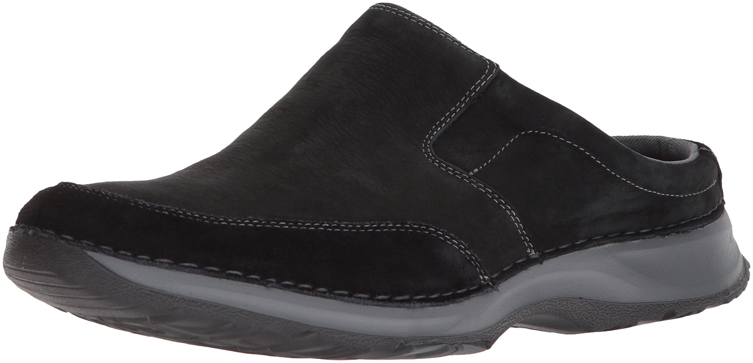Rockport Men's RocSports Lite Five Clog Shoe, black leather, 12 W US