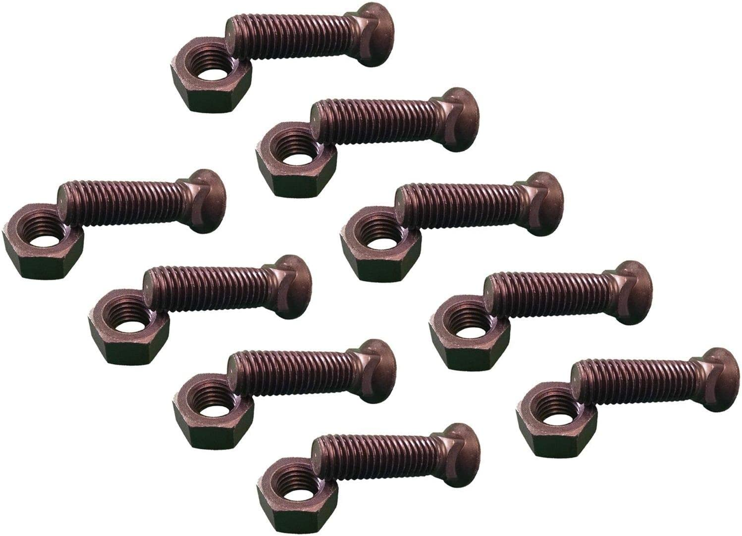 Aparoli SJA 68632/ QB DIN 933/ Hexagonal Screws with Thread up to Head/  Pure Copper 18X100/ Pack of 25/ Quality: Basic / 8.8/