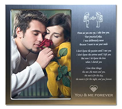 f488424dbe Amazon.com - JOEZITON Romantic Personalized Love Gift 4x6 Picture Frame for  Girlfriend or Boyfriend or Her or Him or Wife or Husband or Couples. -