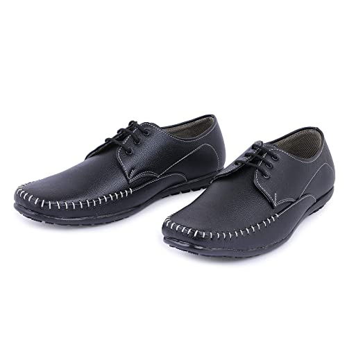 16b94ad2d5bf Emosis Men s Stylish Brown Black Colour Outdoor Formal Casual Derby Office  Lace-up Shoe ...  Buy Online at Low Prices in India - Amazon.in