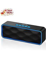 ZoeeTree S1 - Altavoces bluetooth, altavoz portatil bluetooth, Estereo, al aire libre, con HD Audio y Manos Libres, Bluetooth 4.2, Llamadas Manos Libres y TF Ranura de La Tarjeta, Azul