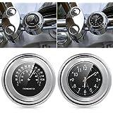 "universal Reloj Relojes Moto Manillar Reloj termómetro universal Temp 7/8 "" Para Harley Honda Suzuki Kawasaki Yamaha"