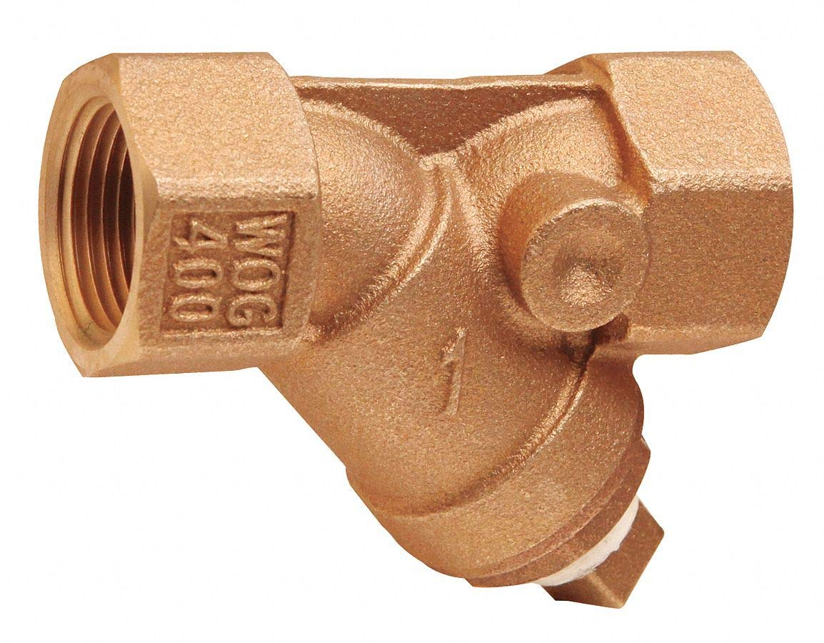 FNPT x FNPT 2-7//20 Length CAI Approved 1-1//2 Y Strainer 20 Mesh Bronze