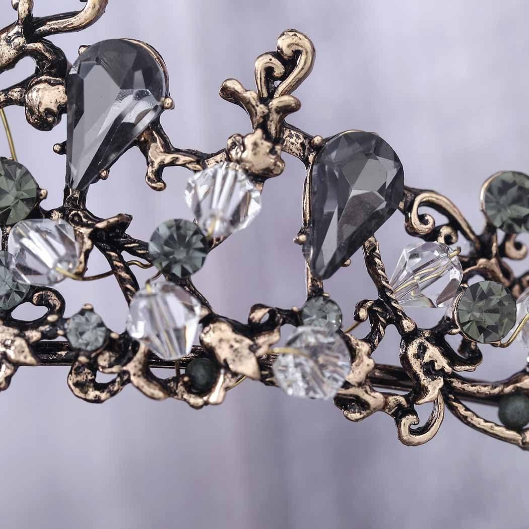 Pour femme Vintage Couronnes de fleurs pour mari/ée HG-26 Tiare de mariage Simsly Dor/é