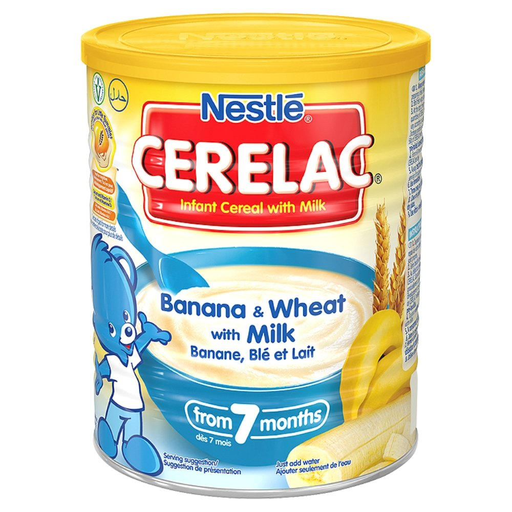 Cerelac Infant Cereal Banana and Wheat with Milk from 7 Months, 400 g Nestlé 107817352