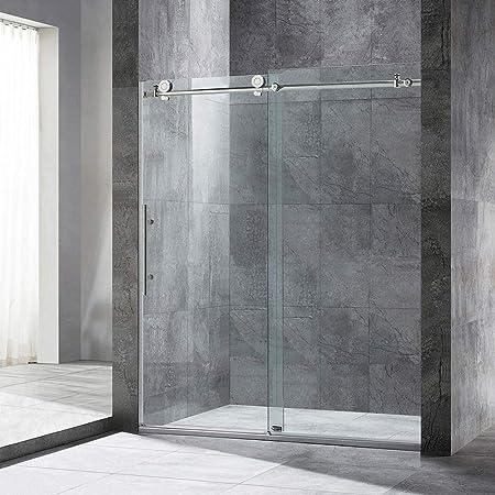 Frameless Sliding Shower Door 56 60 Width 76 Height 3 8