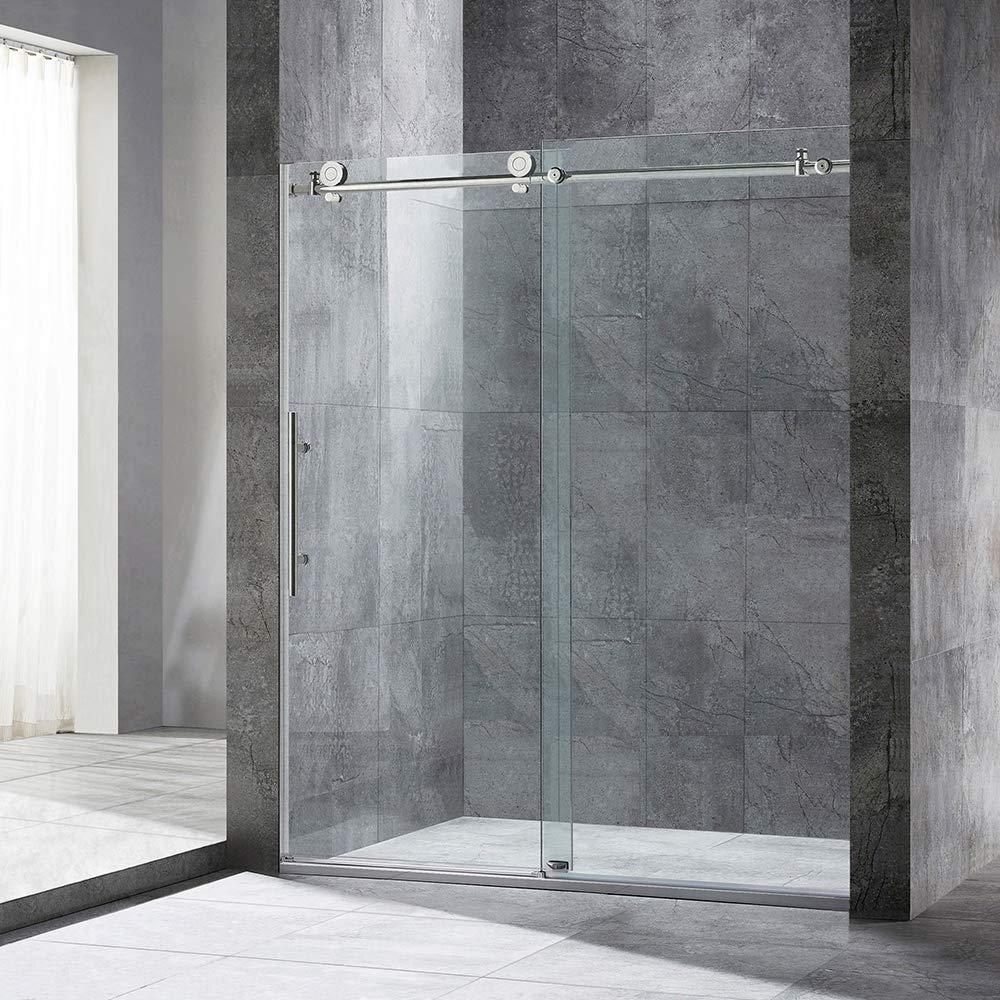 WOODBRIDGE Frameless Sliding Shower, 56 -60 Width, 76 Height MBSDC6076-C