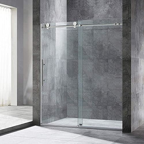 WOODBRIDGE Frameless Sliding Shower, 56 -60 Width, 76 Height MBSDC6076-C