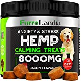 FurroLandia Hemp Calming Treats for Dogs - 170 Soft Chews - Made in USA - Hemp Oil for Dogs - Dog Anxiety Relief…
