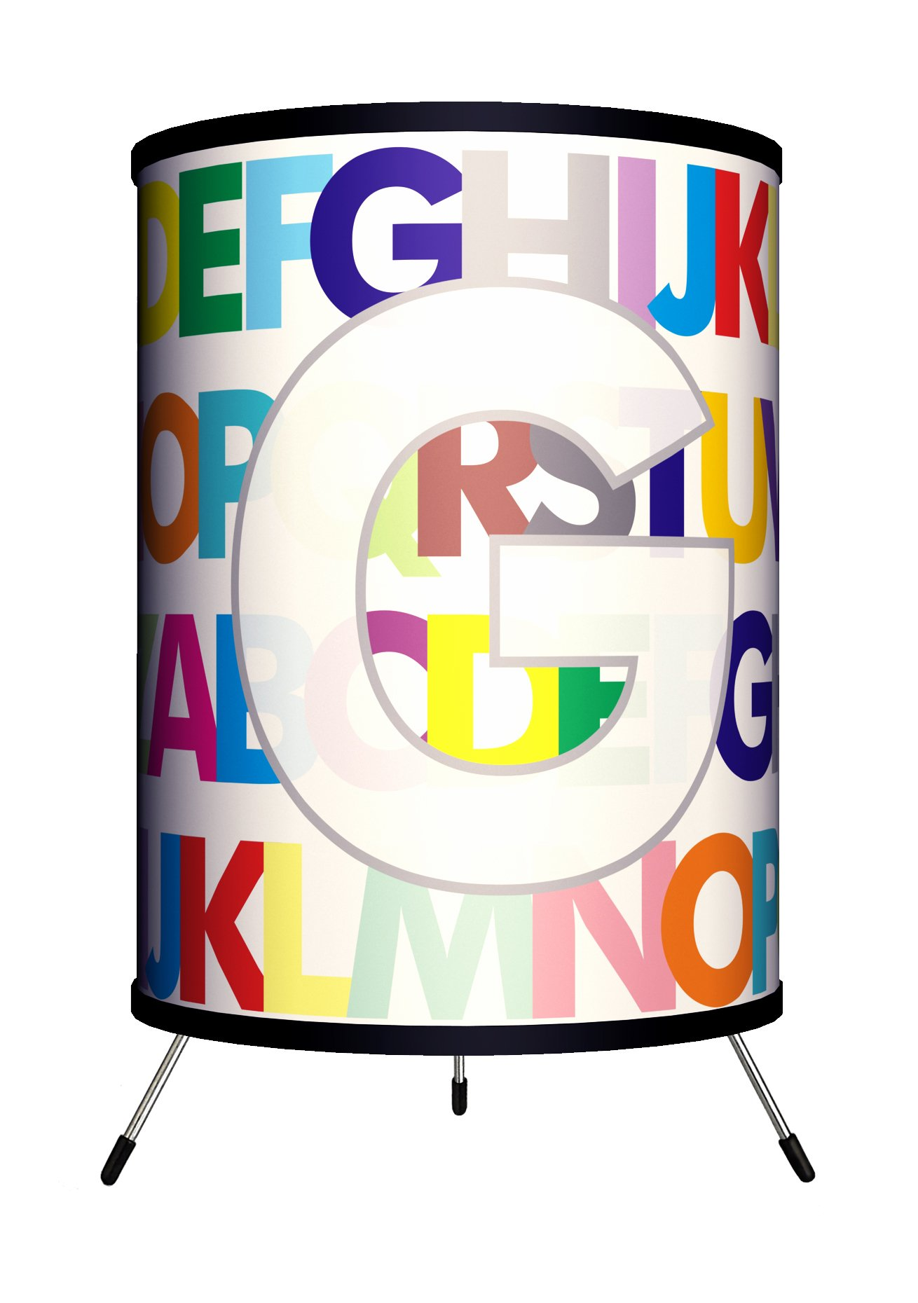 Lamp-In-A-Box TRI-MNG-MODRG Monograms Modern Letter G Tripod Lamp, 8'' x 8'' x 14'' by Lamp-In-A-Box