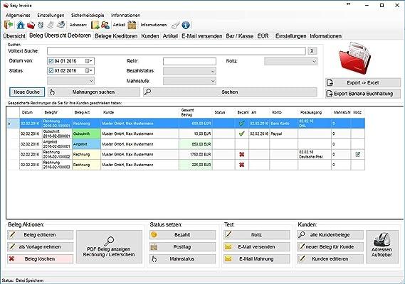 Rechnungsvorlagen In Rechnungsprogramm über Briefpapier Designer Pc