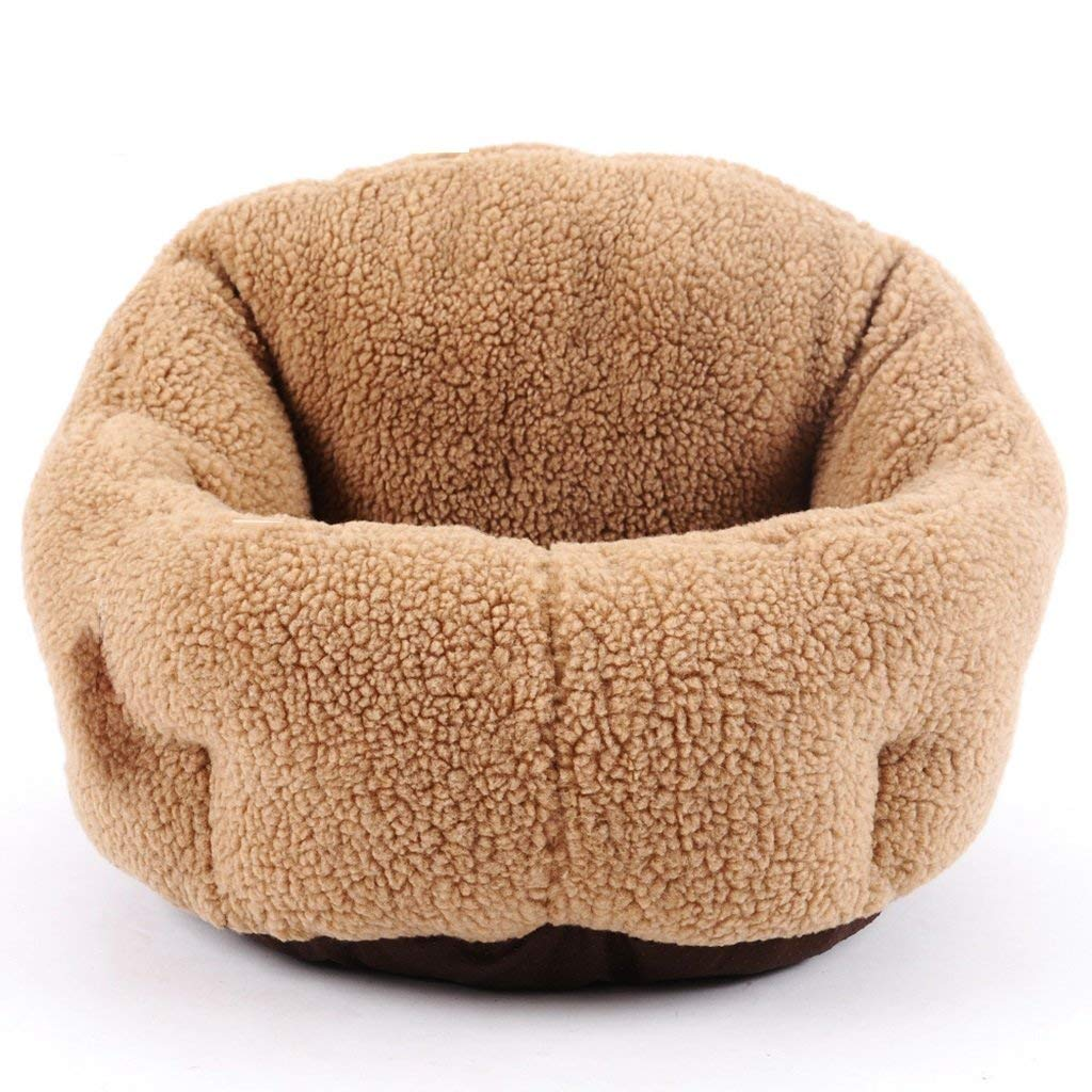 Kennel Pads Dog Beds Pet Kennel Cat Nest Removable and Washable Four Seasons Applmall Dog Bed Mat Dog Room,Browm,D43cm Cat Bed Pet Supplies Cover