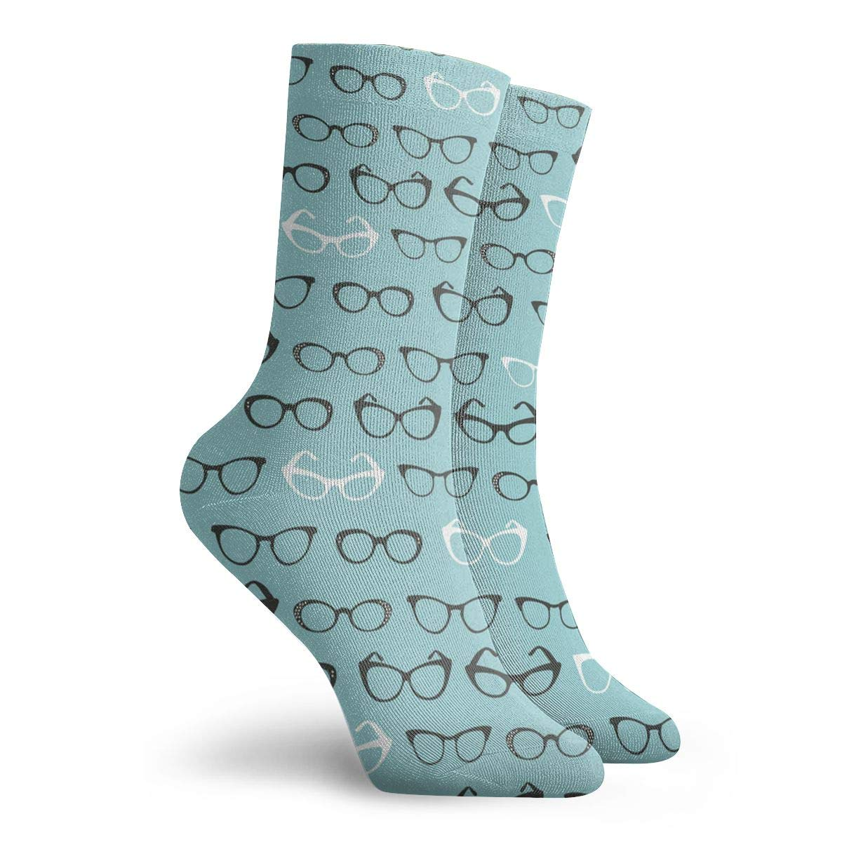 Cartoon Glasses Unisex Funny Casual Crew Socks Athletic Socks For Boys Girls Kids Teenagers