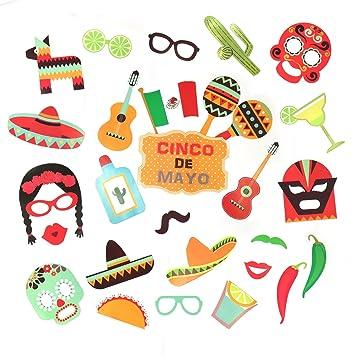 fdvip cinco de mayo mexican fiesta party photo booth selfie props on