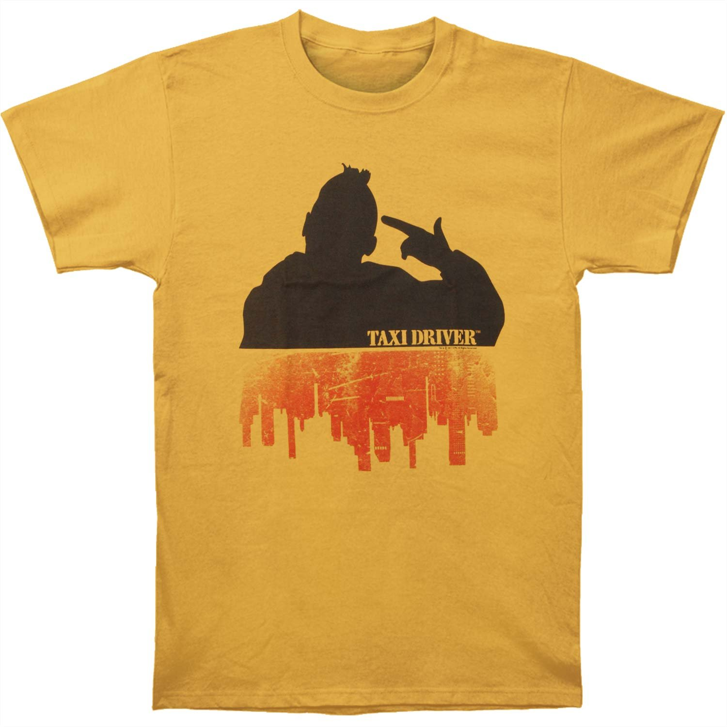 Taxi Driver 1976 Crime Drama Movie Silhouette Over City Ginger Adult T Shirt Tee 3359