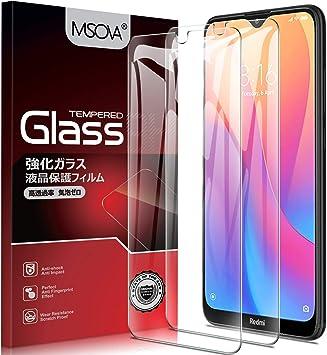 MSOVA para Xiaomi Redmi 8A / Xiaomi Redmi 8 Protector de Pantalla, Cristal Templado Alta Definición 9H Dureza Resistente a Arañazos Protector Pantalla para Xiaomi Redmi 8A Transparente(2 Piezas): Amazon.es: Electrónica