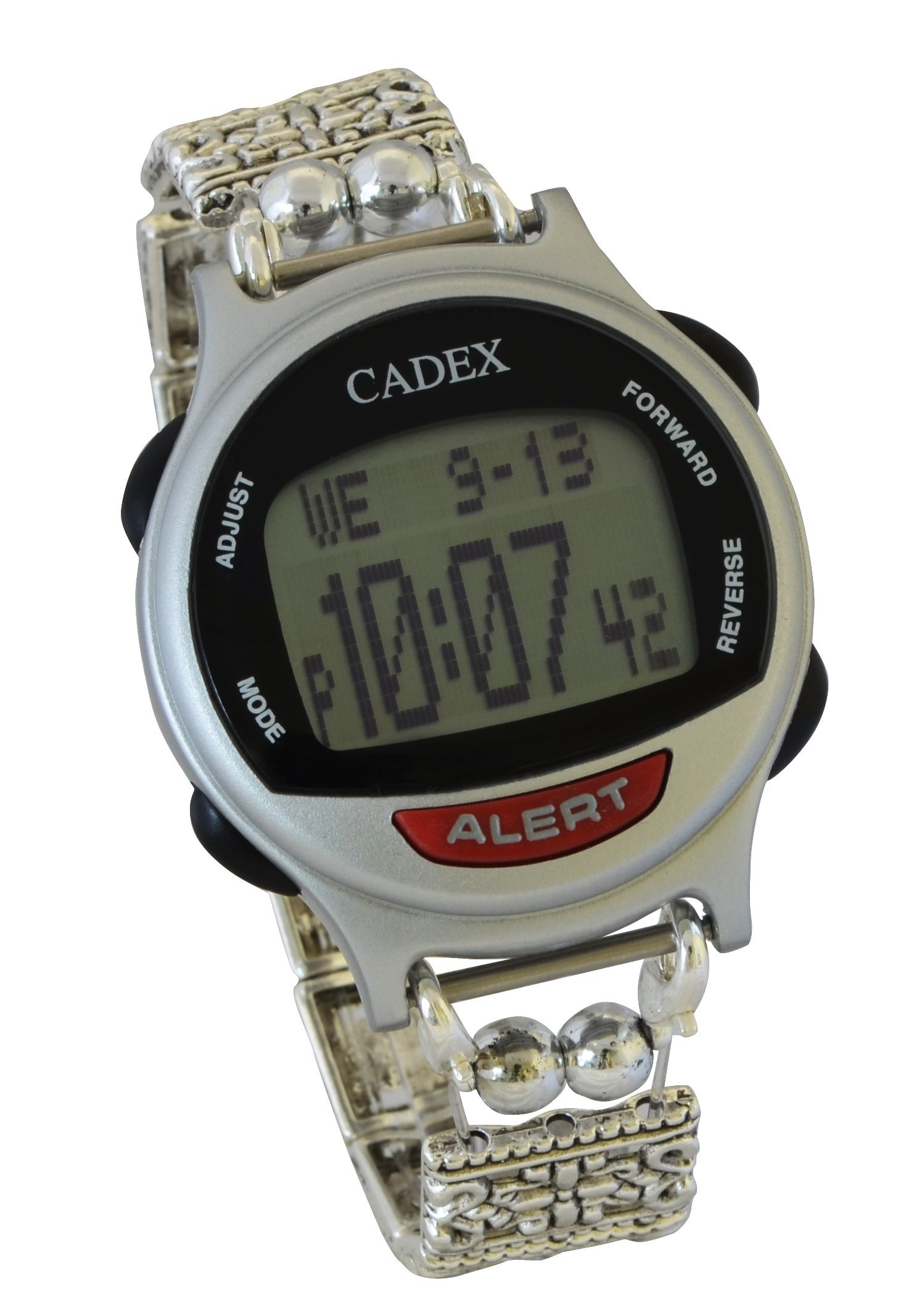 12 Alarm e-pill CADEX Platinum Women's Medical Alert Watch