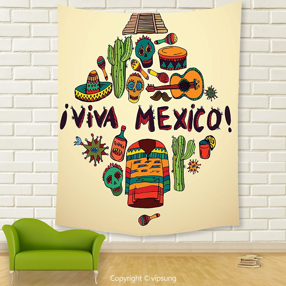 Amazon.com: Vipsung House Decor Tapestry_Mexican Decorations ...