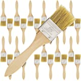 US Art Supply 24 Pack of 1-1/2 inch Paint and Chip Paint Brushes for Paint, Stains, Varnishes, Glues, and Gesso