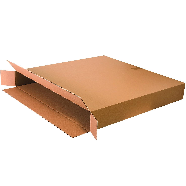 Kraft Pack of 15 8 x 4 x 46 Tape Logic TL8446FOL Side Loading Boxes