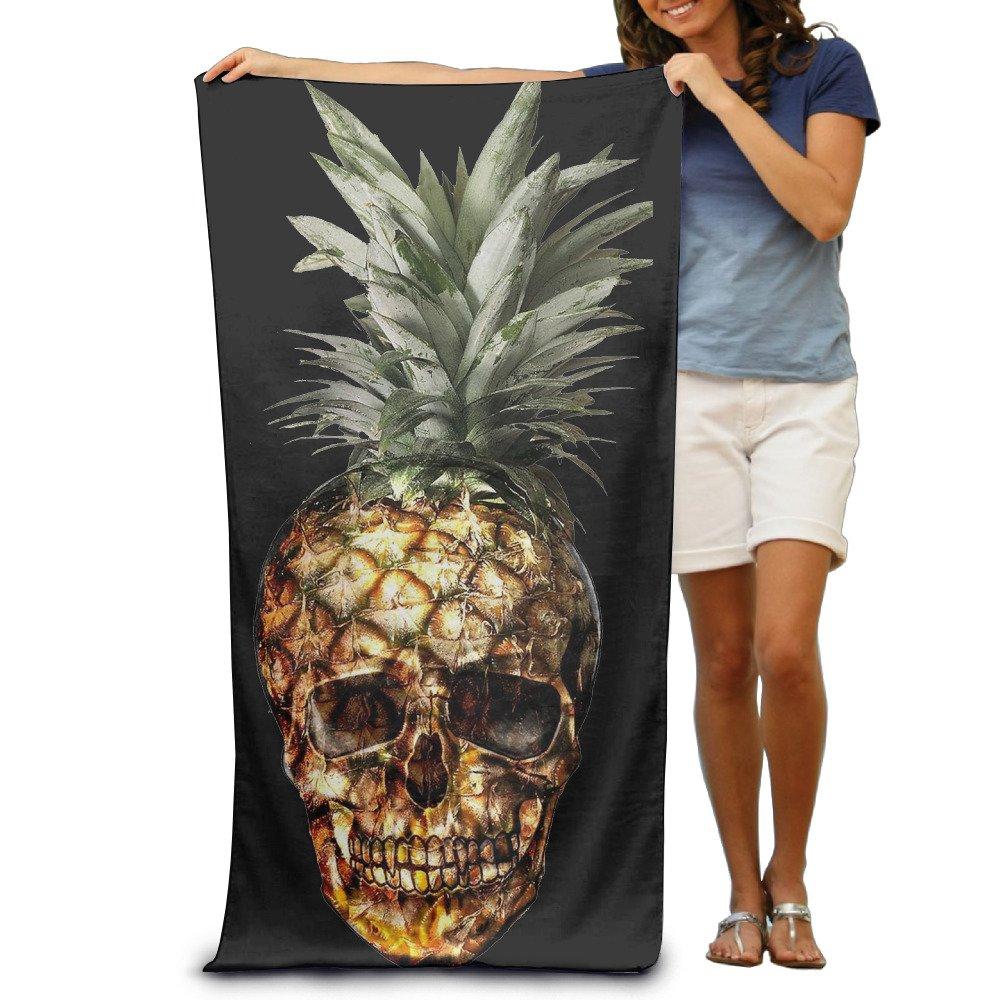 MAMINA Yellow Skull Pineapple Popular Beach Towel Pool Towel One Size 80cm130cm