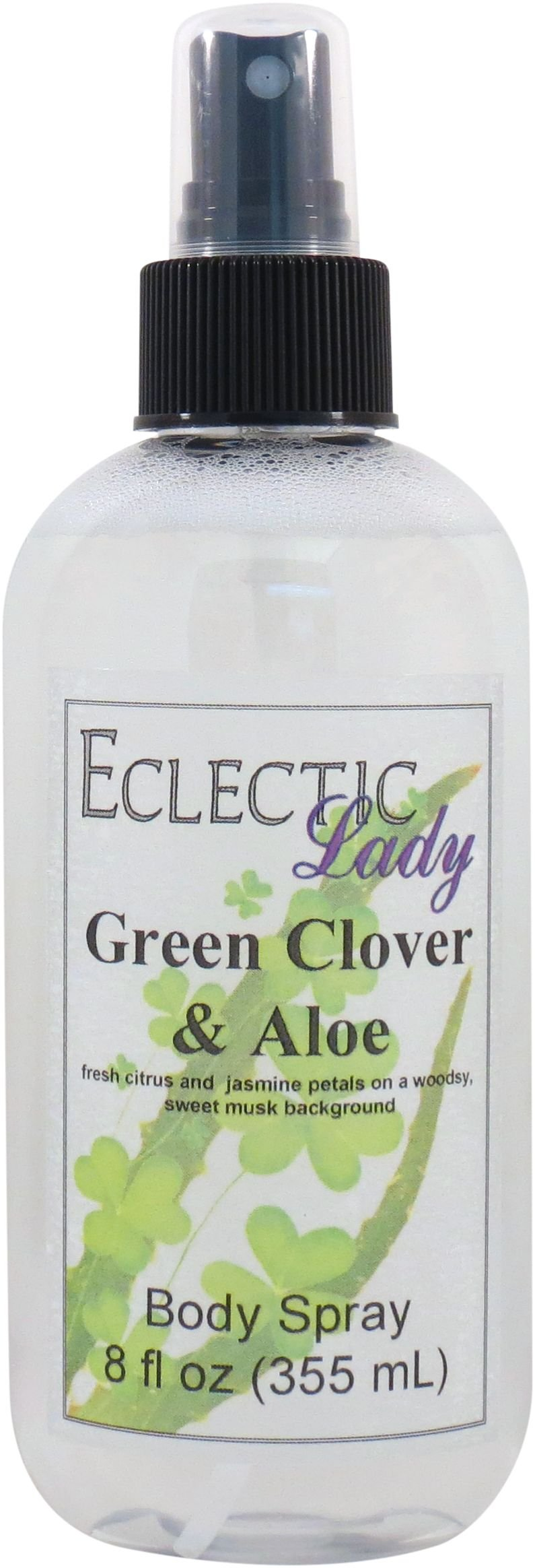 Green Clover And Aloe Body Spray, 8 ounces