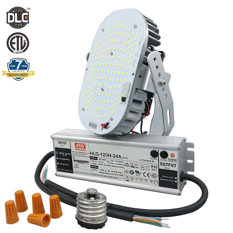 120W LED Retrofit Kit,700W MH/HPS Equivalent,100-277V 5000K 14400 Lumens,ETL/cETL/DLC Listed,Replaces Street/Area Light,High Bay,Gas Station Light,Wall Pack Light, 7 Years Warranty.
