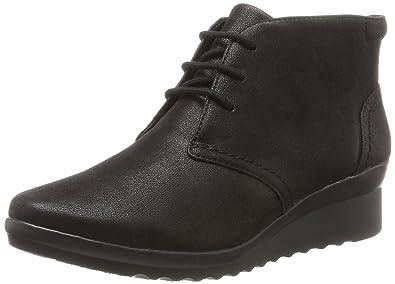 Femmes Caddell Hop Chaussures De Sport Salut-dessus, Noir, 4 Fr Clarks