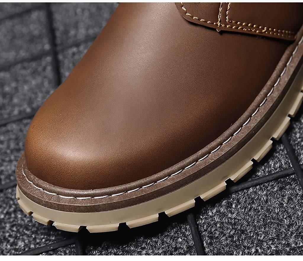 ZYFA Freizeitschuhe Freizeitschuhe Leder Schnürschuhe aus Leder Flache Gummisohle Abriebfeste Martin Wild Martin Abriebfeste Stiefel (Farbe   B, größe   43) 840e99