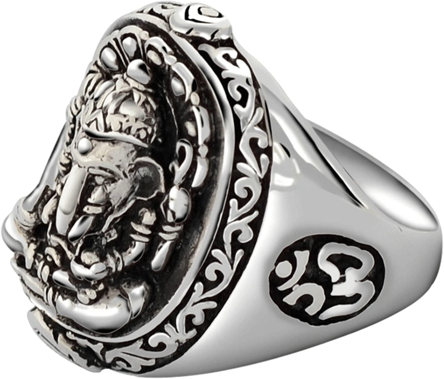 Bishilin Sterling Silver Ring for Men Elephant Partner Friendship Rings Silver Size 6.5
