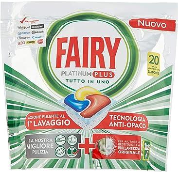 Fairy Plus - Pastillas para lavavajillas, limón, 20 cápsulas, 300 ...