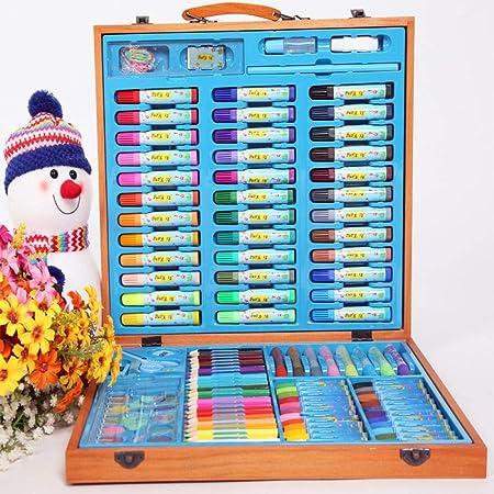 Nwarmsouth Set de Arte, Set de Pluma de Acuarela para niños de 134, Pincel, Herramientas de Pintura para niña, Pintura de Estuche de crayones a Color de lápiz de Dibujo: Amazon.es: Hogar