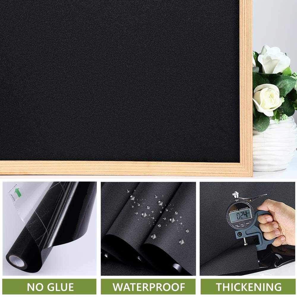 VELIMAX Static Cling Total Blackout Window Film Privacy Room Darkening Window Tint Black Window Cover Removable 100% Light Blocking No Glue (29.5 x 78.7 inches) by VELIMAX (Image #4)
