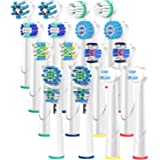 ITECHNIK Replacement Brush Heads Compatible with Oral B Braun, 2x8=16 Pack, fits Vitality Precision Clean, Dual Clean, White Clean, Pro-Health, Sensitive Gum Care, Advance Power, Professional Care