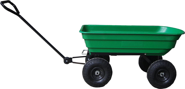 Greenstar 519999 Remorque trainee basculante 250 kg cap 4 roues Noir