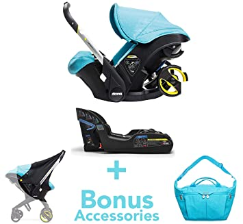 Doona Infant Car Seat And Latch Base Turquoise Sky US Version With Bonus