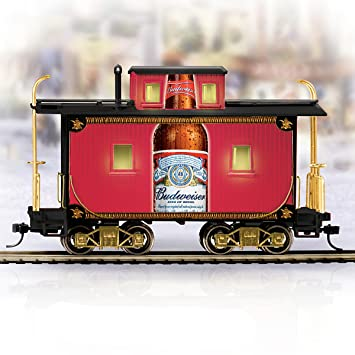 082f12304 Budweiser Holiday Express Train Accessory  The Classic Style Caboose by  Hawthorne Village  Amazon.co.uk  Kitchen   Home