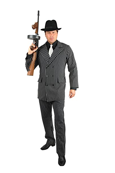 Adultos 6 Botones Doble Breasted Gangster disfraz: Amazon.es: Ropa ...