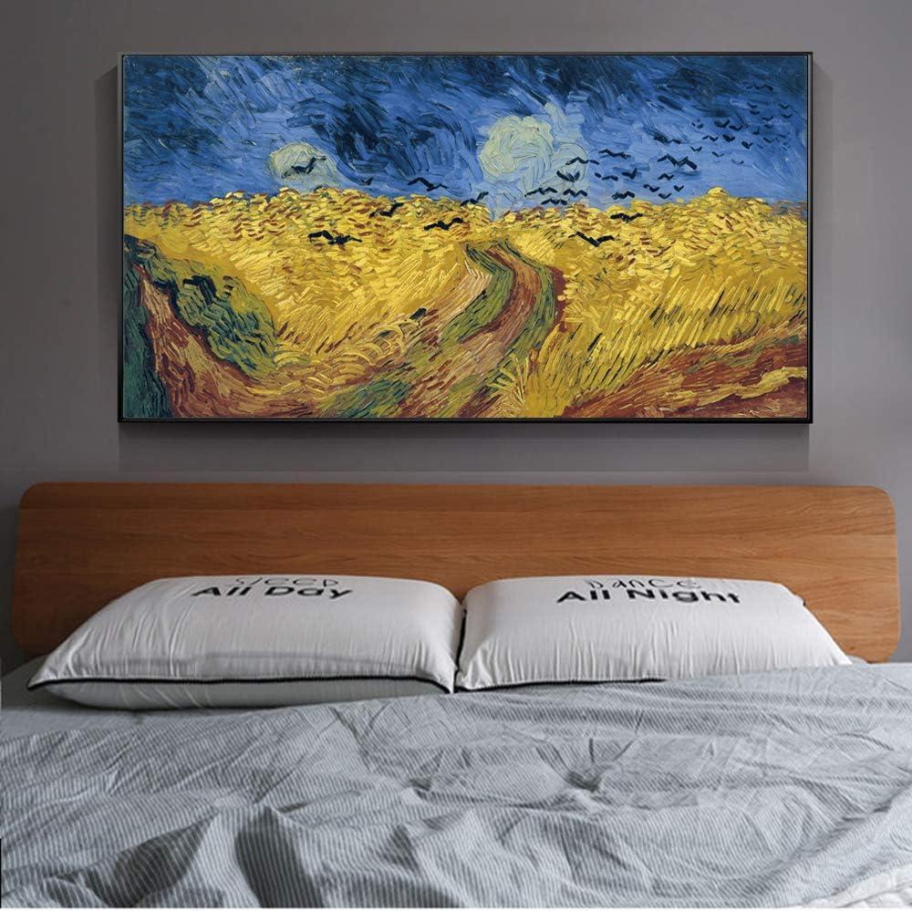 Van Gogh Wheatfield con Cuervos Reproducciones de Pinturas de fama ...