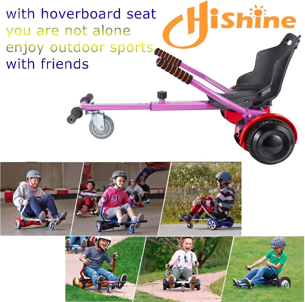 Hishine Hoverboard Seat Attachment Hoverboard Attachments Adjustable Hoverboard Seat Frame and Fits 6.5//8//10 Size Health Sport for All Ages