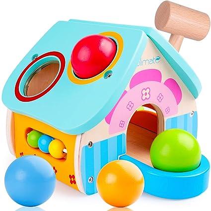 Amazon.com: Banco de madera para golpear juguetes con mazo ...