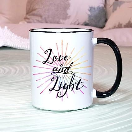 Amazon.com | Boyce22Par Love And Light Mug Yoga Mug Yoga ...