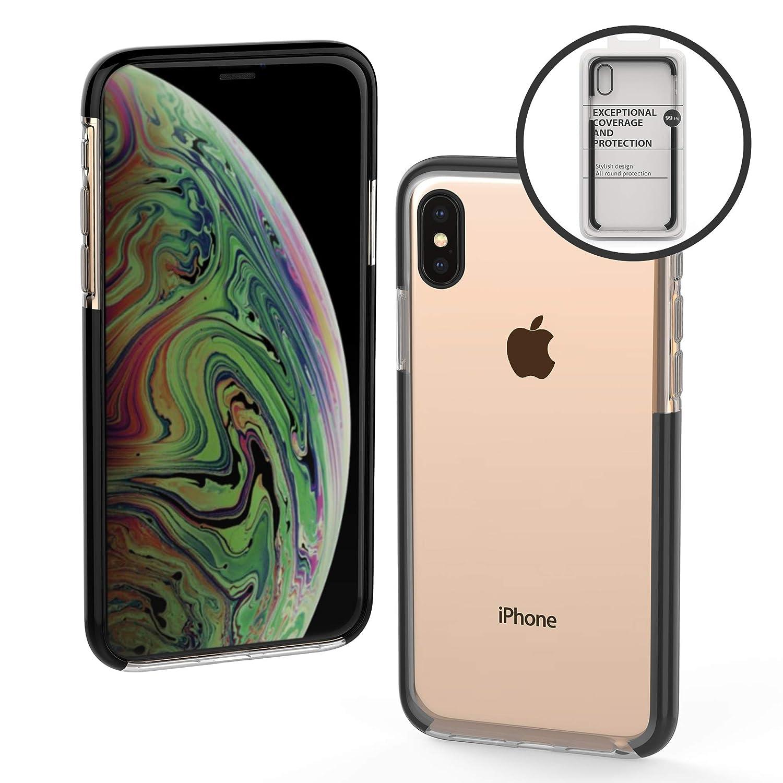 iPhone Xs Maxケースx - バックプロテクターとカメラプロテクター付きの薄型iPhone 10s Maxケース - クリアバックTPUテクノロジーを備えた完全にフィットするiPhone sx Maxケース   B07HRX19VS