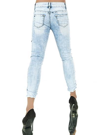 L982 Damen Jeans Hose Damenjeans Röhrenjeans Röhrenhose Röhre Normaler Bund  7 8  Amazon.de  Bekleidung f439903707