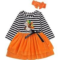 Tianhaik 1-6t Vestido de tutú de Princesa para niñas con Diadema Vestido de Fiesta de acción de Gracias de Navidad