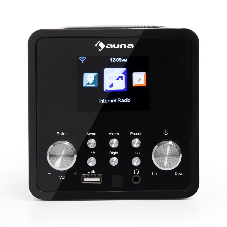 AUNA IR-120 Radio de Internet - MP3, WMA, Acc , Wi-Fi, conexión USB y AUX , Alarma , Autoapagado , 15000 emisoras , Mando a Distancia , Negro